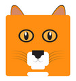isolated cat face vector image vector image