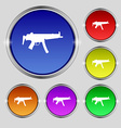 machine gun icon sign Round symbol on bright vector image vector image