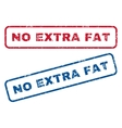 No Extra Fat Rubber Stamps vector image vector image