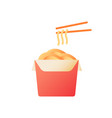 noodle box flat color icon vector image vector image