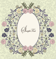 ornate frame with floral elements vector image vector image