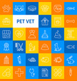 pet vet line icons vector image vector image