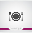 plate icon simple vector image vector image