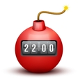 Red Bomb About To Blast with time counter vector image vector image