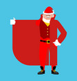 santa claus smuggler selling something template vector image vector image
