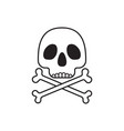 scull with bones crossed vector image vector image