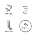 set christmas greeting cards invitations vector image vector image