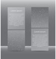 Set Vertical Grey Banners New Year Christmas vector image vector image