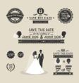 set wedding typography vector image vector image