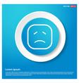smiley icon face icon abstract blue web sticker vector image