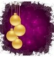 snowflakes violet frames vector image