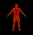 standing man isolated on black background vector image vector image