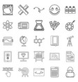 study icons set outline style vector image vector image