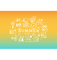 Summer travel icon concept vector image vector image