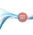 Veterans Day design Wavy background vector image vector image