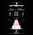 wedding card with wedding cake vector image