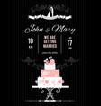 Wedding card with wedding cake