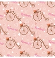 wedding retro bicycle seamless pattern vector image vector image