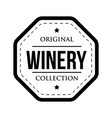 winery logo vintage isolated label vector image