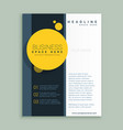 yellow circle brochure design corporate business vector image vector image