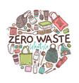 zero waste lifestyle logo emblem or lable vector image
