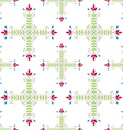 Elegant floral pattern with leafs and flowers vector image