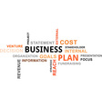 word cloud business plan vector image