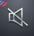 without sound mute icon symbol 3D style Trendy vector image