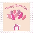 Happy Birthday card2 vector image