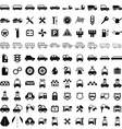 100 car and transport icons vector image vector image