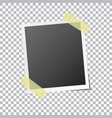 abstract photo frame fixed sticky tape vector image