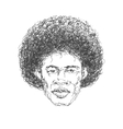 afroamerican man hand drawn eps8 vector image vector image
