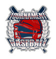 baseball badge tournament vector image vector image