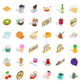 best food icons set isometric style vector image vector image