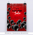 black friday sale backgrond air balloons and text vector image