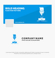 blue business logo template for cutting vector image vector image