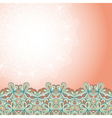 border with abstract hand-drawn pattern vector image vector image