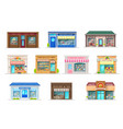 building icons store shop fast food restaurant