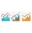 Business Graph with arrow showing profits and vector image