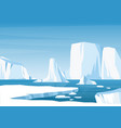 cartoon arctic ice landscape with iceberg vector image vector image