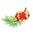 christmas and new year decoration christmas vector image