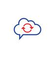 cloud computing concept sync icon vector image vector image