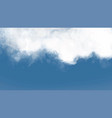 cloudy winter sky template full screen background vector image vector image