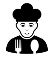 Cook Flat Icon vector image