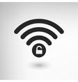 Creative WiFi Locked vector image