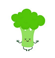 cute smiling happy strong broccoli vector image vector image