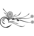 decorative branch vector image vector image