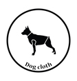 Dog cloth icon vector image