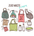 ecological lifestyle and set eco objects vector image