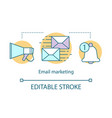 email marketing concept icon digital marketing vector image vector image